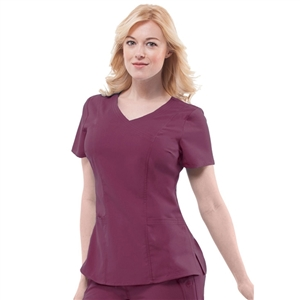 Healing Hands 2172 - Women's Jordan Mock Wrap Solid Scrub Top