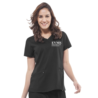 Healing Hands 2245 - Women's Juliette V-Neck Solid Scrub Top for EVMS OB/GYN