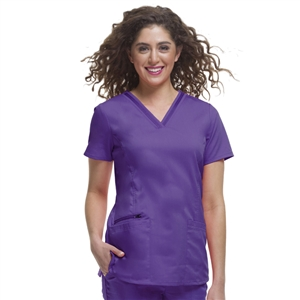Healing Hands 2278 - Women's Jasmin V-Neck Stretch Solid Scrub Top