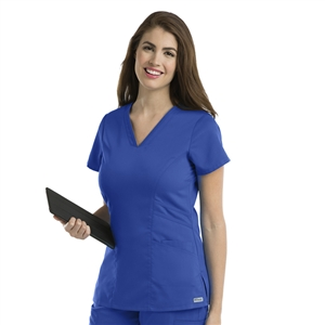 Barco 41452 - Women's V-Neck Solid Scrub Top