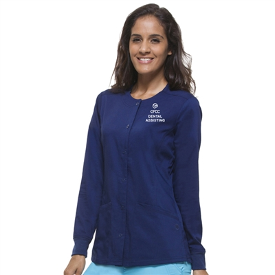 Healing Hands 5063 - Women's Daisy Snap Front Warm-Up Scrub Jacket for CFCC Dental Assisting