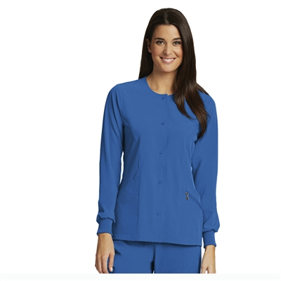 Barco One 5409 - 4 Pocket Jewel Neck Snap Front Jacket