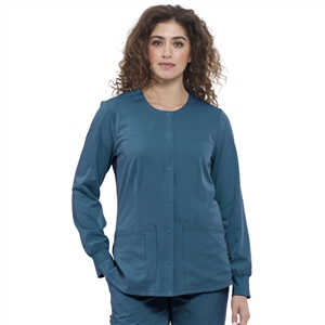 HH WORKS 5500H - Women's Megan 4 Pocket Snap Front Scrub Jacket