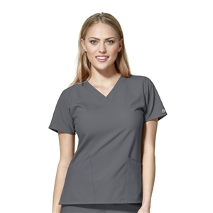 WonderWink W123 6255 - Women's Basic V-neck Solid Scrub Top