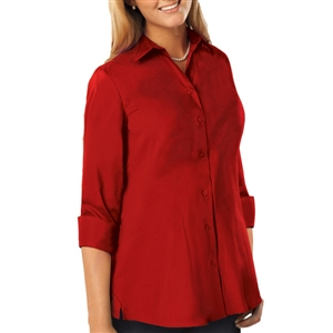Blue Generation 6261 - Ladies Full Cut Super Blend Poplin Swing Shirt