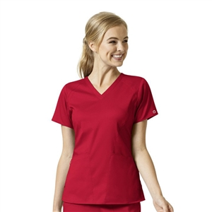 WonderWink PRO 6319 - Women's 4 Pocket V-Neck Solid Scrub Top