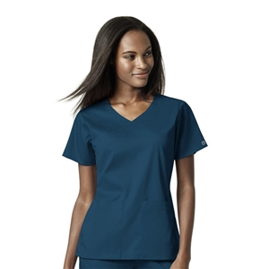 WonderWink PRO 6519 - Women's 4 Pocket Mock Wrap Solid Scrub Top