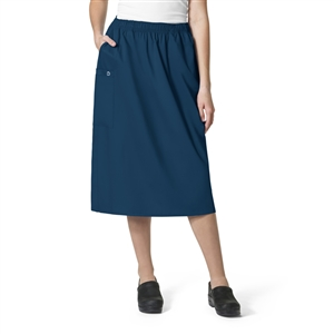WonderWORK 701 : Women's Pull On Cargo Solid Scrub Skirt