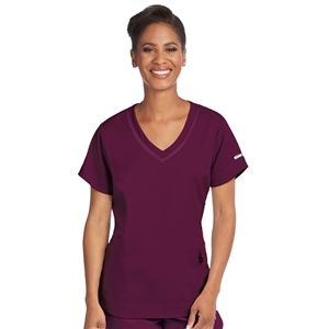 Barco 7187 - Women's Seamed V-Neck Solid Scrub Top