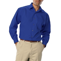 Blue Generation 7218 - Men's Easy Care Stretch Long Sleeve Poplin Shirt