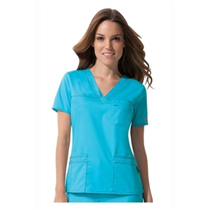 Dickies Medical 817455 - 'Youtility' Contrast Stitch V-Neck Top