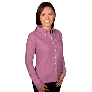 O - Blue Generation 6214 - Ladies' Long Sleeve Pocketless Oxford for White Oak