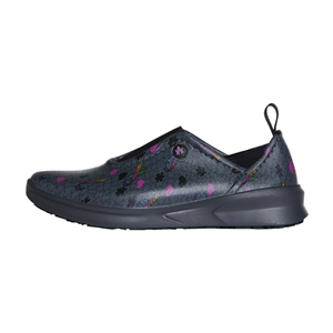 Anywear by Cherokee Women's Blaze Slip On Athletic Shoe in pattern AWPW-Autism Awareness Pewter