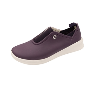 Anywear by Cherokee Women's Blaze Slip On Athletic Shoe in pattern VPMW - Vintage Violet / Perfect Plum / Marshmallow