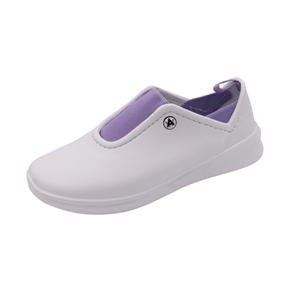 Anywear by Cherokee Women's Blaze Slip On Athletic Shoe in pattern WLVW - White / Lavendar