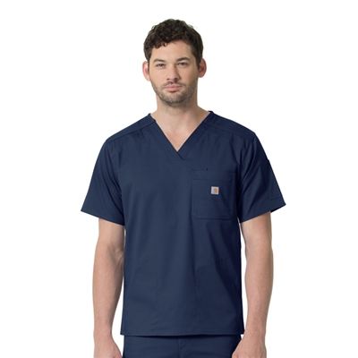 Carhartt Ripstop C16418 - Men's Slim Fit Six Pocket Scrub Top