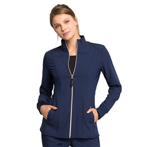 Cherokee CK365 - STATEMENT Women's Zip Front Solid Scrub Jacket