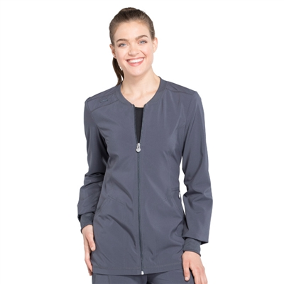 Cherokee CK370A - Infinity Women's Zip Front Warm-Up Solid Scrub Jacket