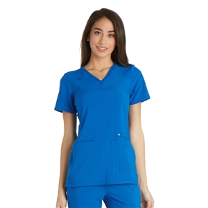 Cherokee CK605 - iFLEX Women's V-Neck Knit Panel Scrub Top