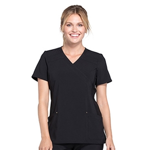Cherokee CK680 - iFLEX Women's Mock Wrap Soft side Panel Scrub Top