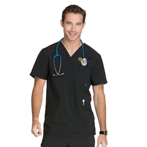 Cherokee Infinity CK900A - Men's V-Neck Solid Scrub Top for White Oak
