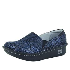 Alegria DEB-262 Navy Swish Closed Heel Clog