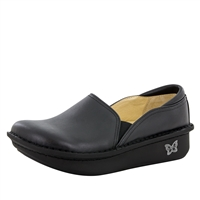 Alegria DEB-601 Black Nappa Leather Closed Heel Clog