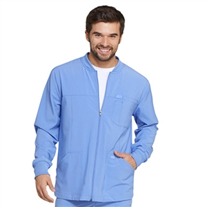 Dickies EDS ESSENTIALS DK320 - Men's Zip Front Warm-Up Solid Scrub Jacket