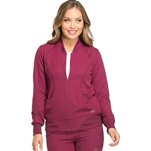Dickies DYNAMIX DK330 - Women's Zip Front Warm-Up Solid Scrub Jacket