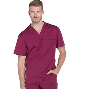 Dickies DYNAMIX DK610 - Men's V-Neck Solid Scrub Top