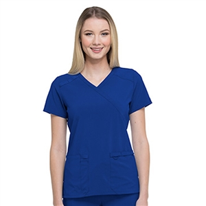 Dickies EDS ESSENTIALS DK625 - Women's Mock Wrap Solid Scrub Top
