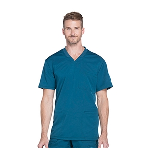 Dickies DYNAMIX DK640 - Men's Connected V-Neck Solid Scrub Top