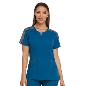Dickies DYNAMIX DK665 - Women's Shaped V-Neck Solid Scrub Top