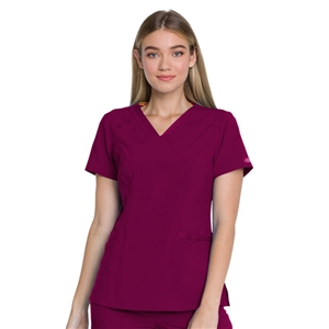 Dickies EDS ESSENTIALS DK735 - Women's V-Neck Solid Scrub Top
