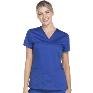 Dickies Gen Flex DK800 - Women's V-Neck Solid Scrub Top