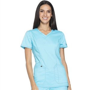 Dickies ESSENCE DK803 - Women's V-Neck Solid Scrub Top