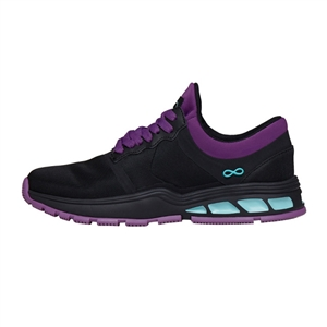 Infinity by Cherokee Women's Fly Athletic Shoe in pattern BKNE - Black / Neon Purple / Aruba Blue