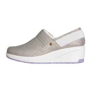 Infinity by Cherokee Women's Glide Slip-On Wedge Shoe in pattern TLWH - Taupe / Lavendar