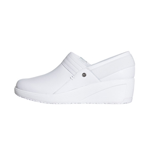 Infinity by Cherokee Women's Glide Slip-On Wedge Shoe in pattern WWWH - White / White