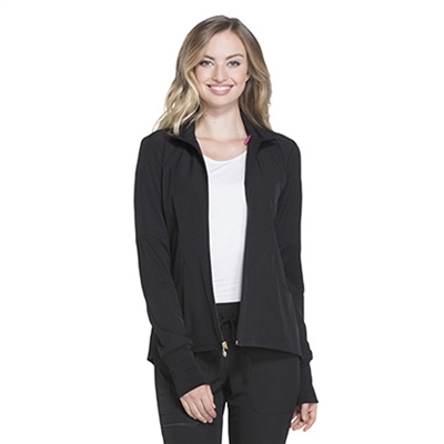 Cherokee HS315 - HeartSoul Women's Zip Front Warm-Up Solid Scrub Jacket