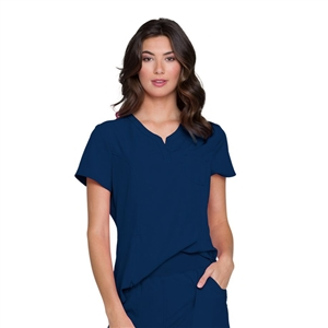 Cherokee HS710 - HeartSoul Women's Split Neck Solid Scrub Top
