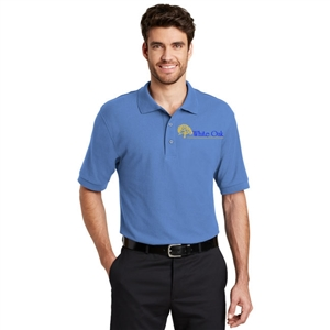 SanMar K500 - Ultramarine Short Sleeve Silk Touch Polo - Men's for White Oak