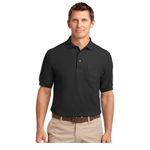 Sanmar K500P - Short Sleeve Silk Touch Polo with Pocket - Men's