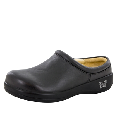 Alegria KAY - 601 Black Nappa Leather Slip-On Clog