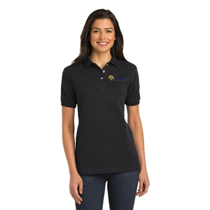 O - SanMar L420 - Port Authority Ladies Heavyweight Cotton Pique Polo for White Oak