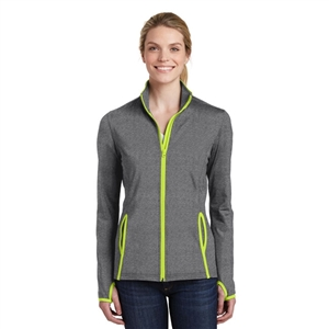 Sanmar LST853 - Sport-Tek Ladies Stretch Contrast Full Zip Jacket