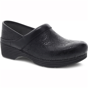 Dansko - Women's LT PRO Black Floral Tooled Leather