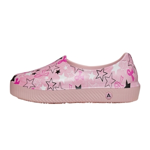 Anywear by Cherokee Women's Rise Slip On Shoe in pattern PRPK - Pink Ribbon Stars / Pink