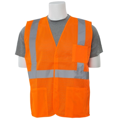ERB - S362P ANSI Class 2 Mesh Economy Vest With Pockets - Hook & Loop Closure