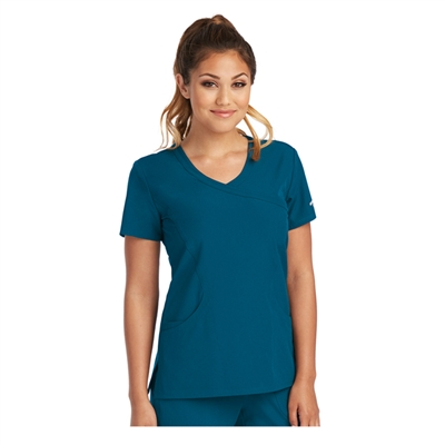 SKECHERS SK102 by Barco - Reliance 3 Pocket Mock Wrap Top